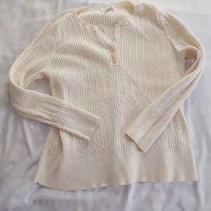 Woman's cable knit sweater